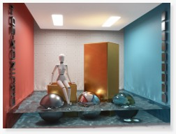 Water caustics 3D CAD rendering photorealism